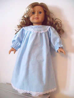 American Girl Personalized Nightgown