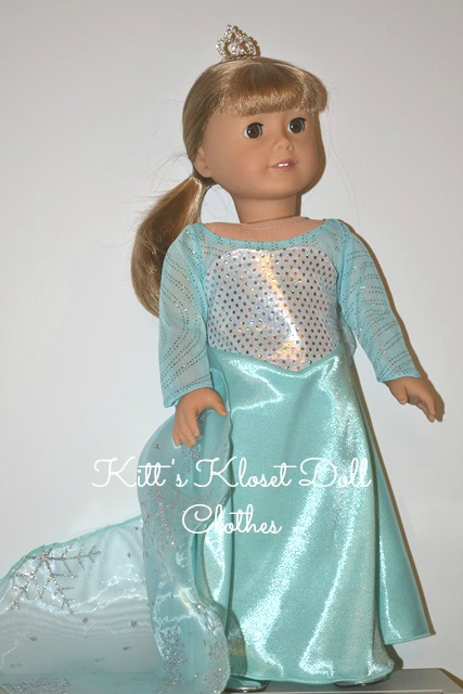 American Girl size Elsa Inspired Gown