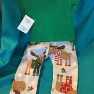 Christmas Moose PJs are great for 18 inch boy dolls