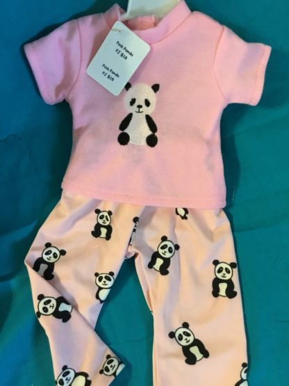 Pink Panda Pajamas 18 inch doll