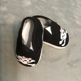 Girly Skull Canvas Slip-ons