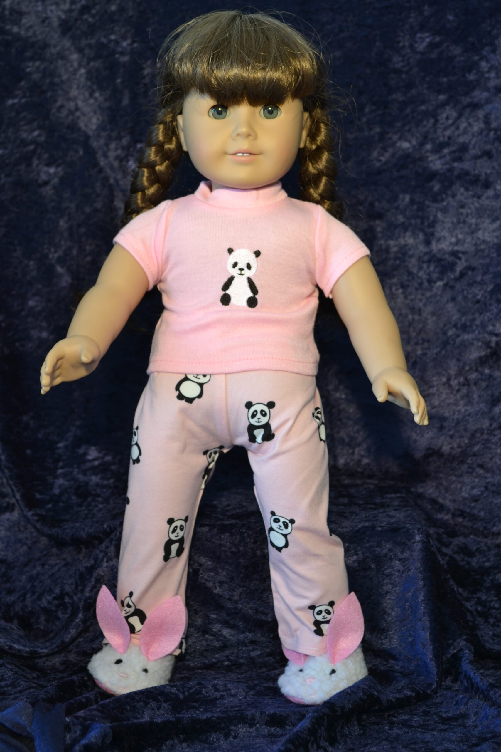 Pink with Panda PJ for 18 inch doll