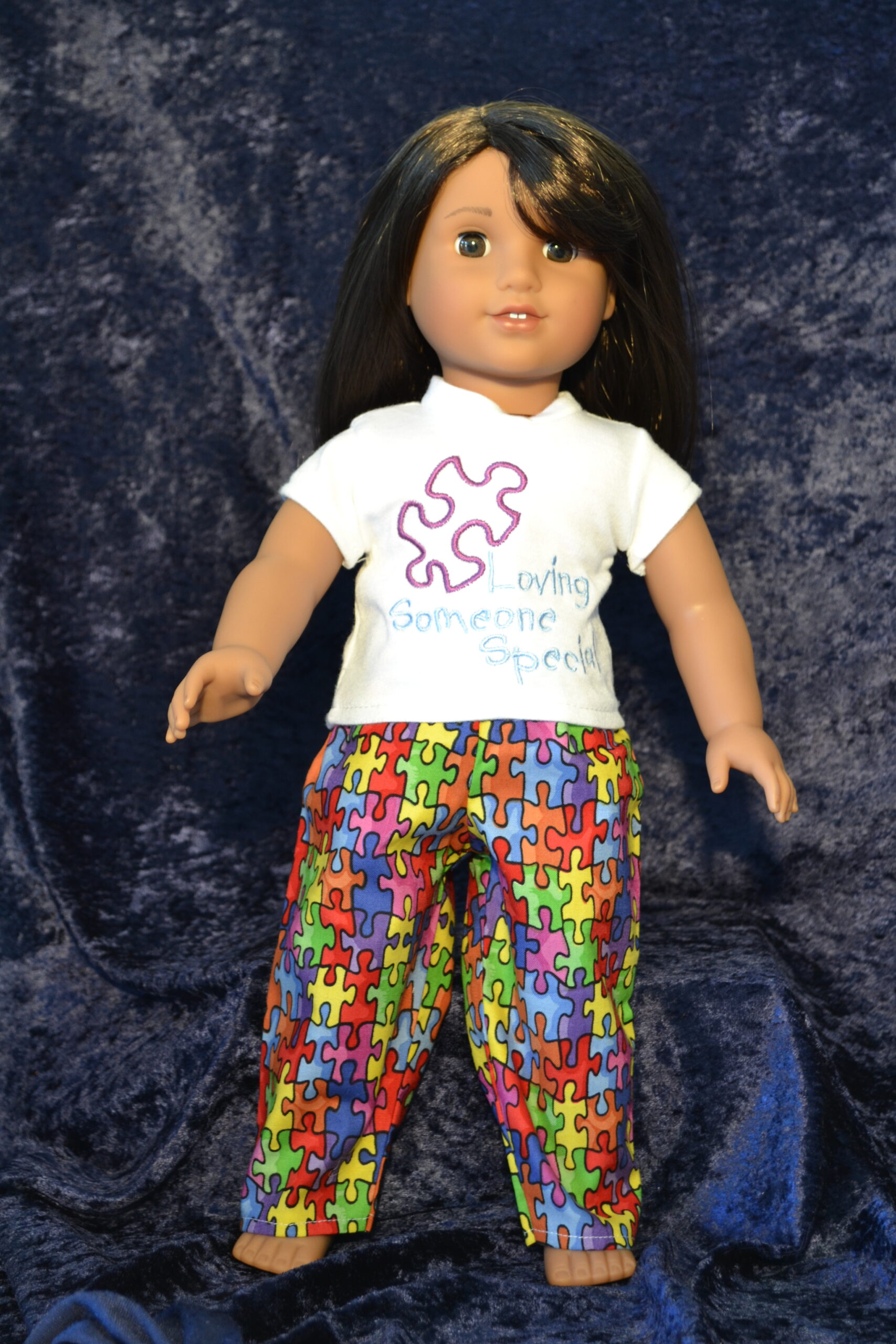 Autism Awareness PJs fit 18 Inch Dolls