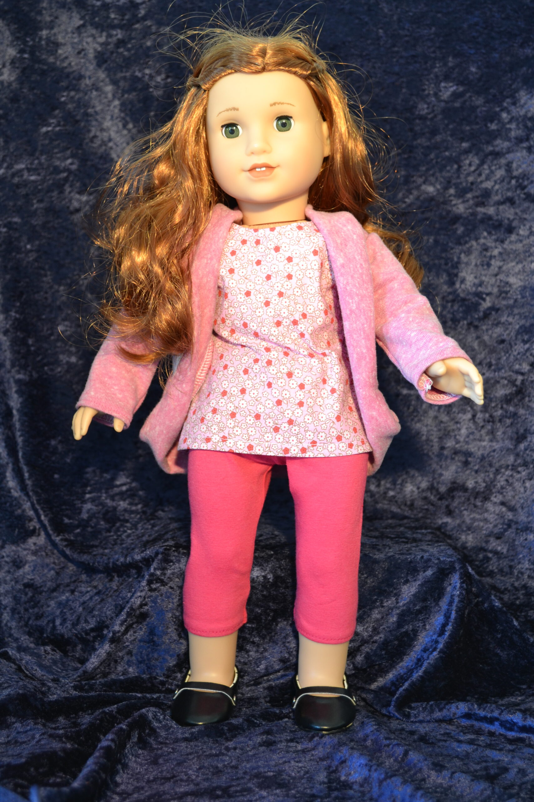 Pink Capris, Top, Sweater set for 18 inch Dolls