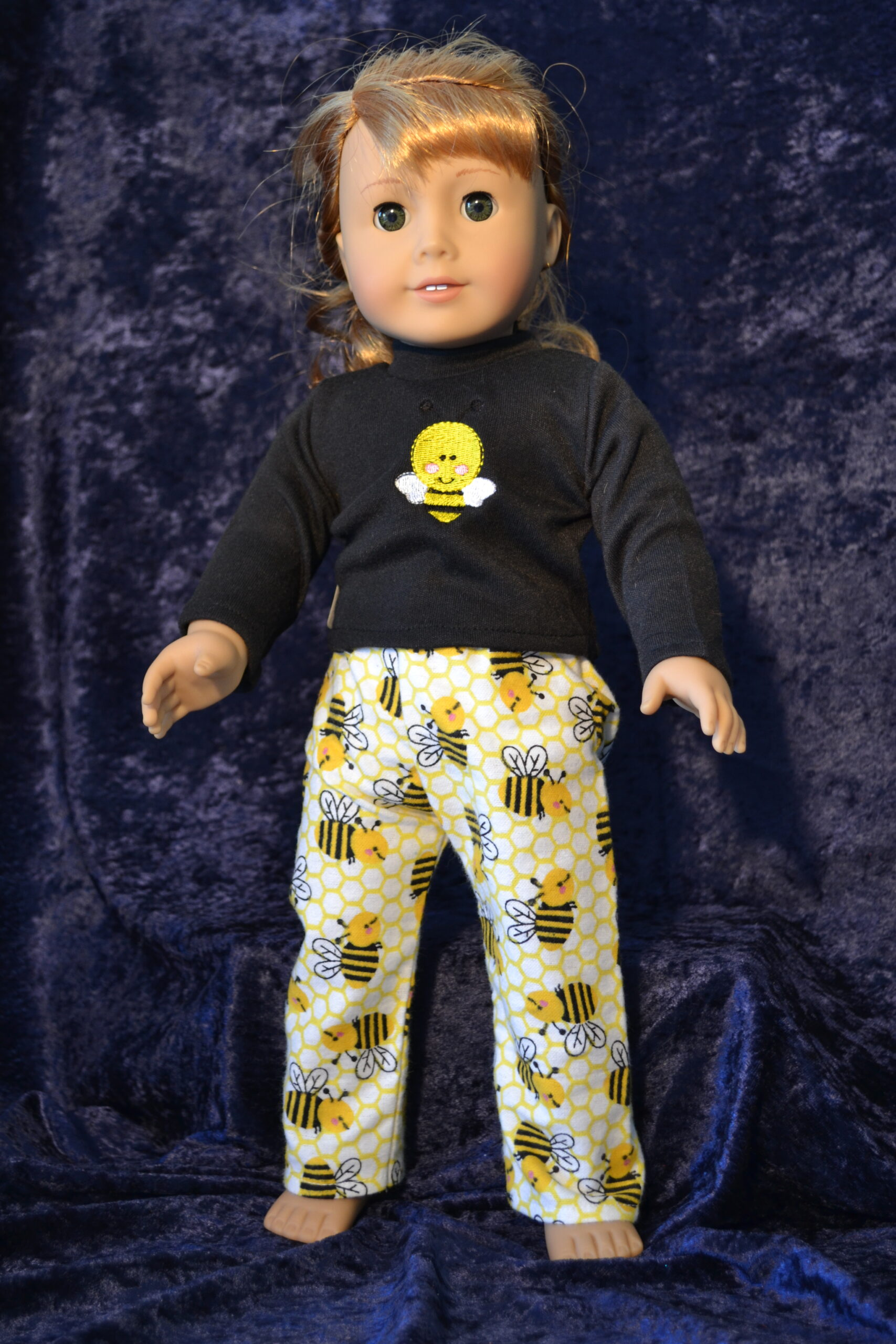 Bumblebee Print Doll Pajamas