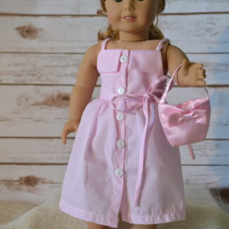 Pink Striped Sundress set